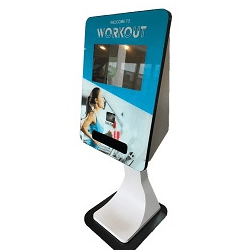 Indoor touch screen kiosks SmartCurve Card dispensing Kiosk