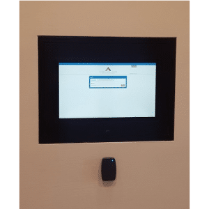 in wall touch screen kiosks