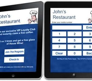 Touch Screen Kiosk Loyalty Systems Tablet with APP