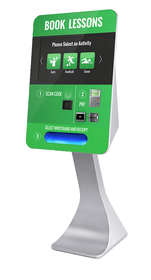 Green smartcurve kiosk